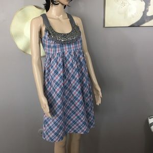 Kensie - plaid dress size 6 - with silver studs